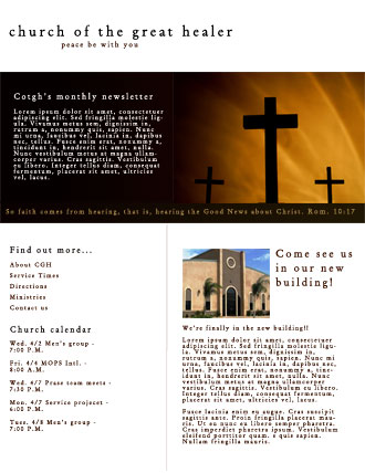 church newsletter examples | Example
