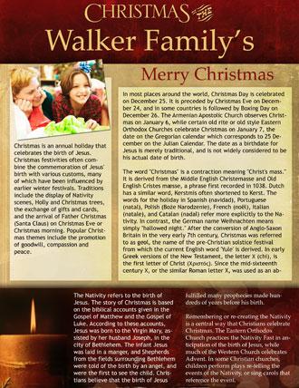 Family Holiday Newsletter Samples